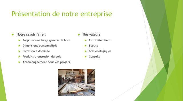 Présentation PowerPoint simplification